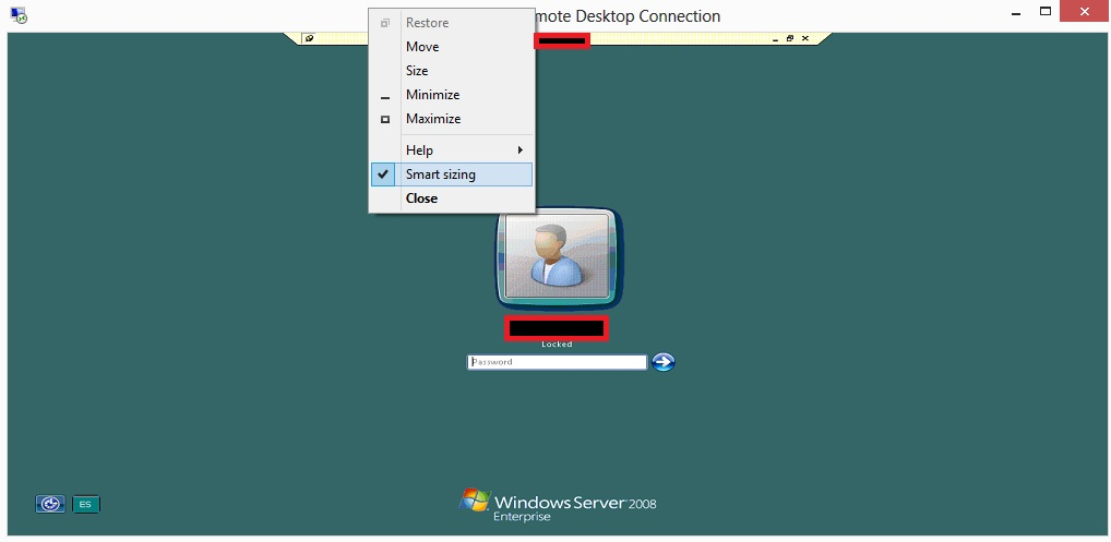 Feature Interesante – Smart Sizing para Remote Desktop en Windows 8